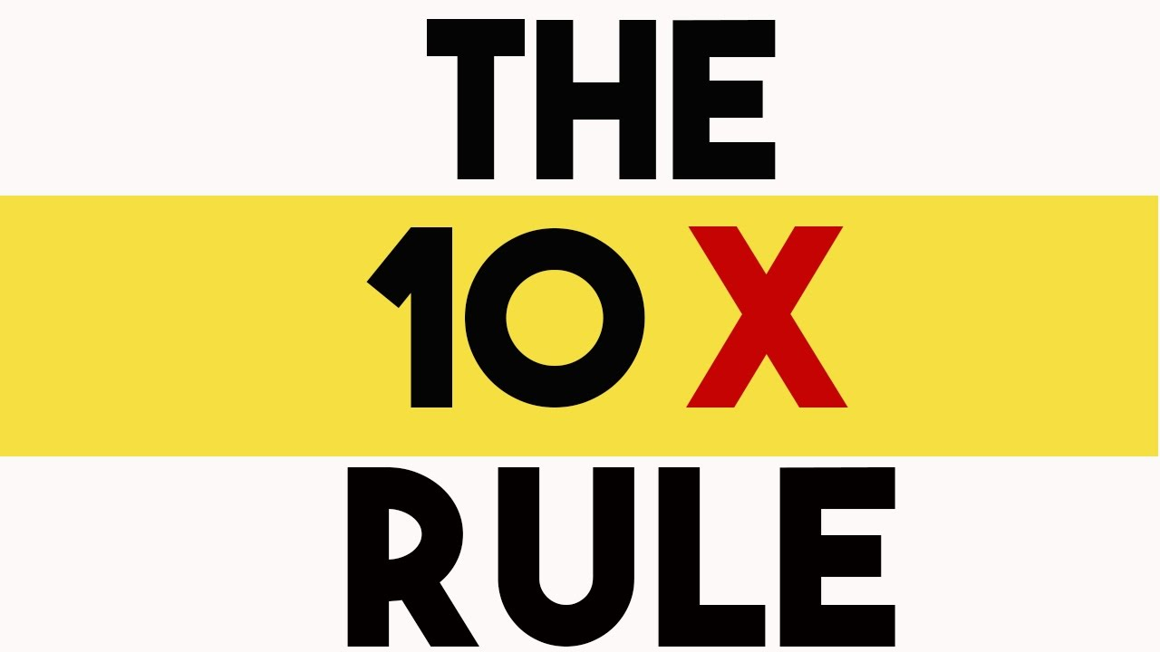 "Image result for ""10X Rule"" by Grant Cardone"