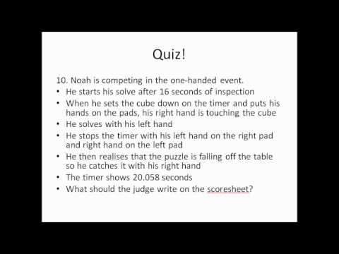 Regulations Quiz Answers