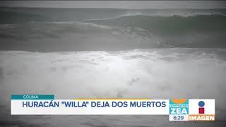 "Huracán ""Willa"" mata a 2 hombres; esparcían cenizas de su padre en mar"