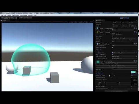 Unity Customized Shader Demo - Force Field and Intersection Highlight