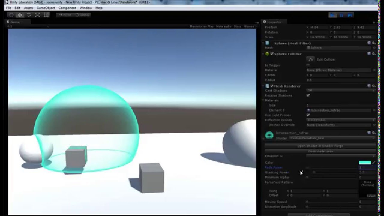 How to do a intersect effect in Shader Graph  : Unity3D