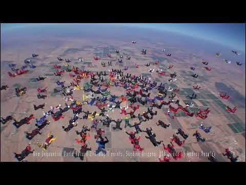 Three point 217 way sequential skydiving world record 2017