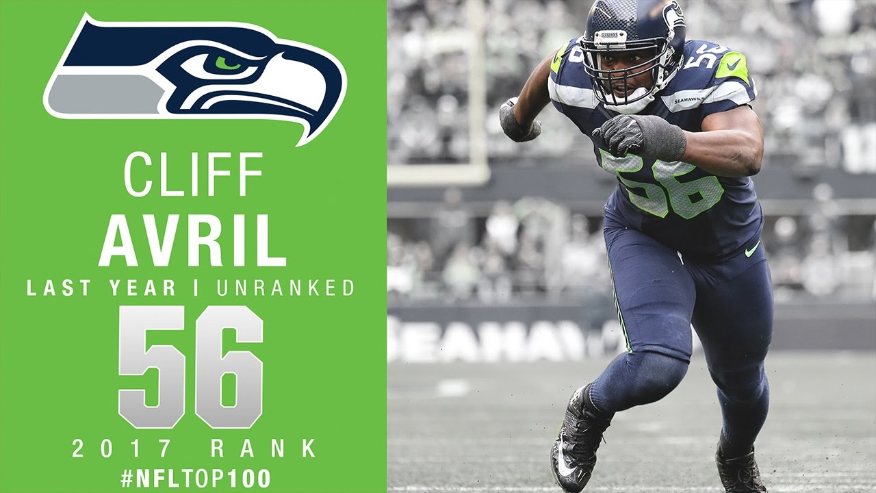 56 Cliff Avril DE Seahawks Top 100 Players of 2017