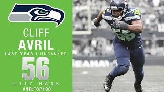 #56: Cliff Avril (DE, Seahawks) | Top 100 Players of 2017 | NFL