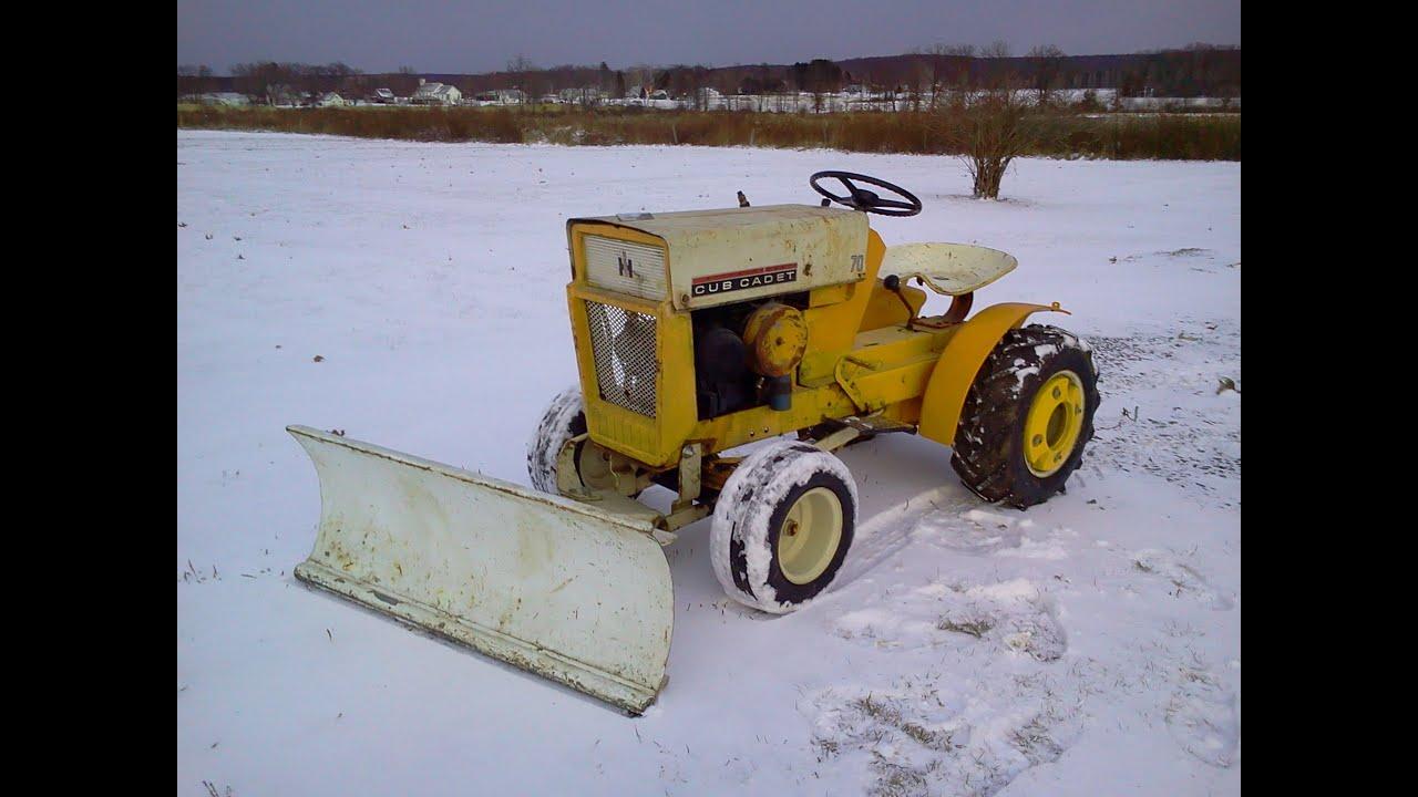 medium resolution of 1964 cub cadet 100 snow plow installation