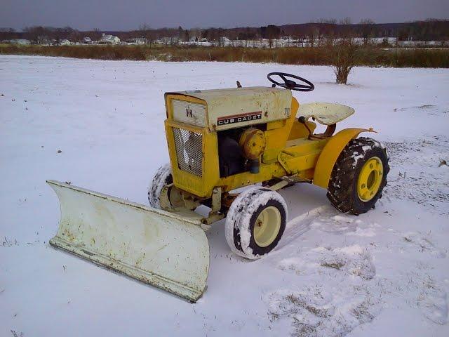 1964 Cub Cadet 100 Snow Plow Installation