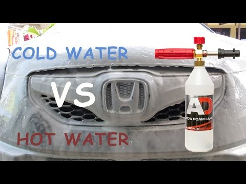 hot water vs cold water on a foam lance