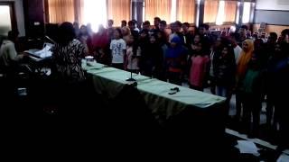 """Selamat Datang Pahlawan Muda"",IEC-in practice.Cipt:Ismail Marzuki,Arr:Sudaryanto"