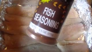 A Simple Meal (whiting Fillets W/salad) A Fish