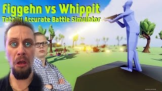 figgehn vs Whippit | TOTALLY ACCURATE BATTLE SIMULATOR | TRUMP BYGGER VÄGG