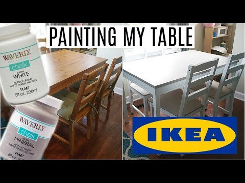 Painting My IKEA Table | Waverly Chalk Paint | No Sanding or Priming!