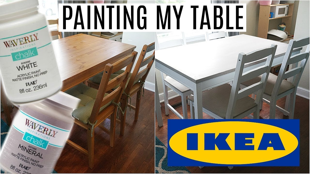 Ikea Expedit Chalk Paint Painting My Ikea Table Waverly Chalk Paint No Sanding Or Priming