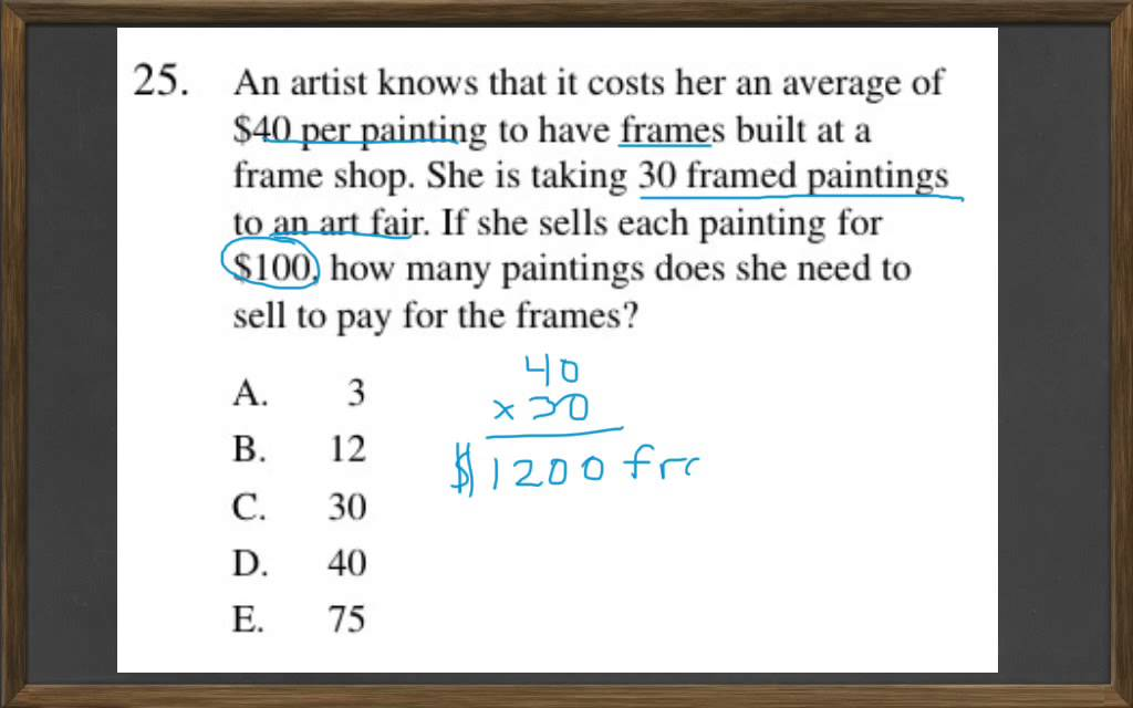 HiSET Math Free Practice Test 2 #25 - YouTube