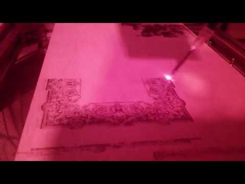 Pajamas micro CNC - Laser in scan mode