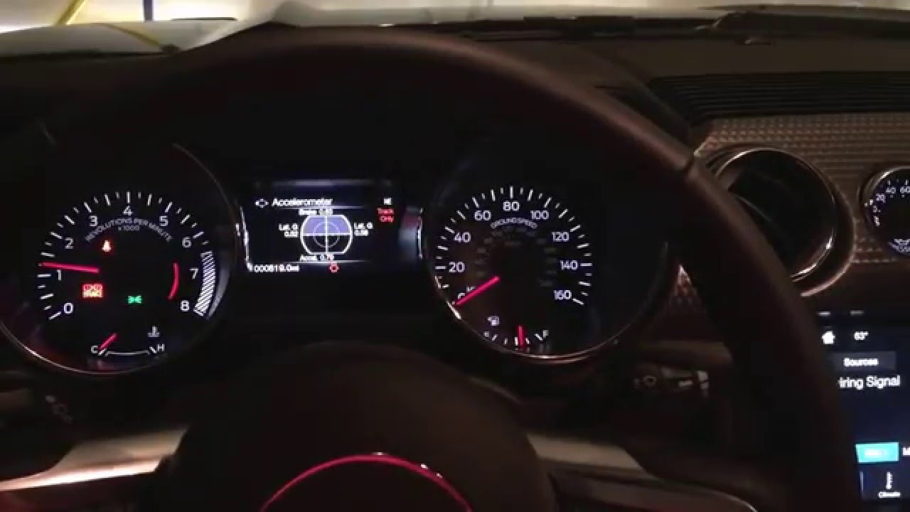 2016 Mustang GT With Lighting Package Running Through Gauge Colors - YouTube