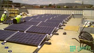 Flat Roof Mounted Solar PV Installation - 8kWp - Bury College