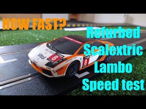 My Scalextric Lamborghini Gallardo speed test