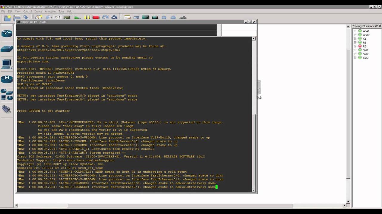 Cisco ASA Active/Standby Failover Configuration