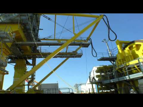 SAL Shipping: MV Anne-Sofie, Loading Pipelay Tower of 940 t