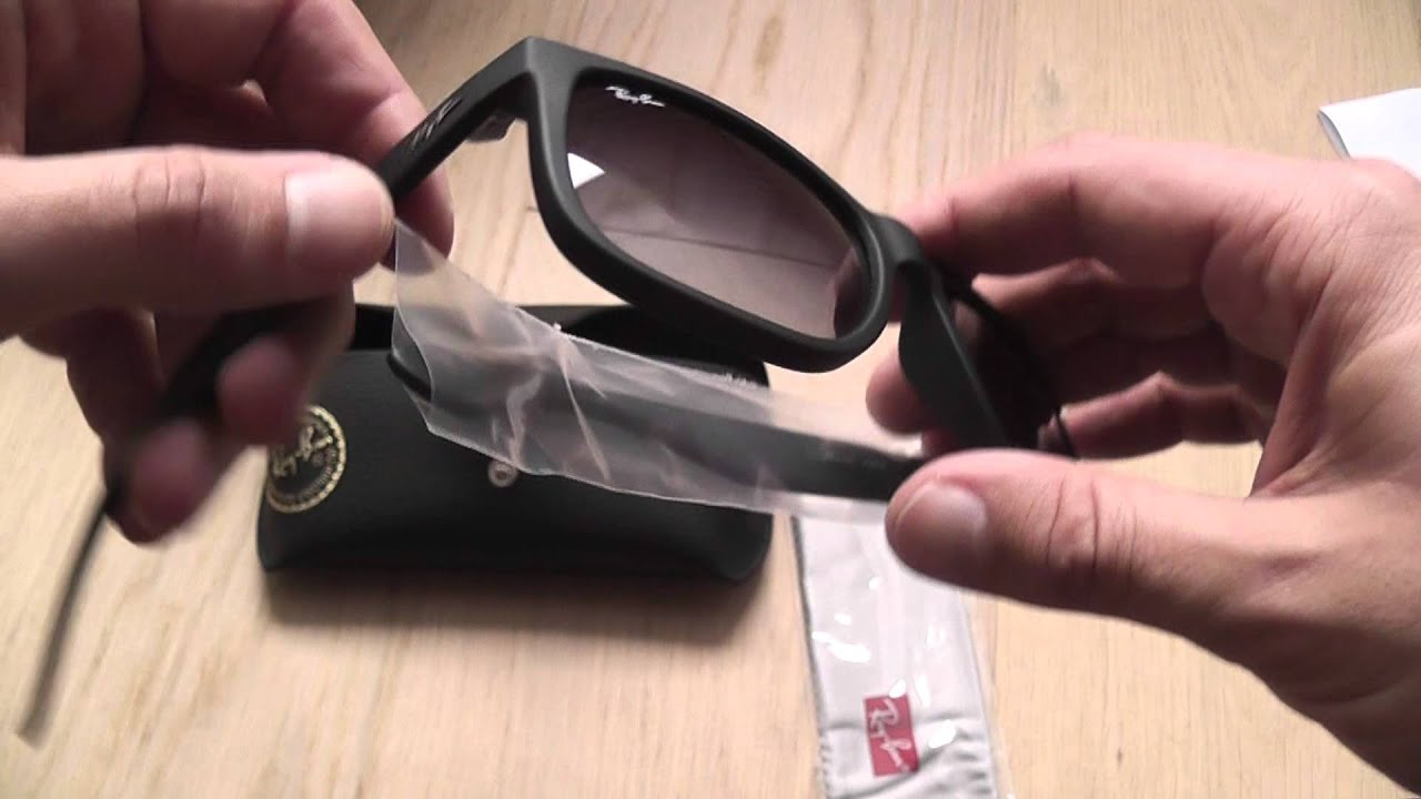 fc0d760a1 Ray Ban Justin sunglasses unboxing - YouTube