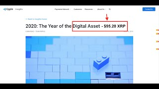 💥Ripple Makes 2020 Prediction. XRP Price to $95.20. Proof!