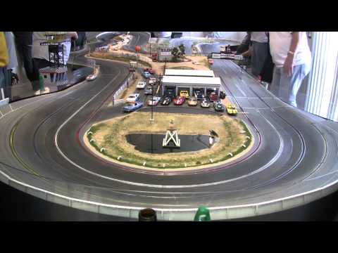 Model Riverside International Raceway Slot Car Race 20150110 Heat 16 Carrera Vintage Stockers [HD]