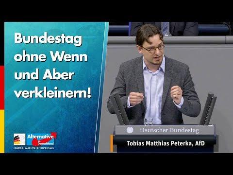 Bundestag ohne Wenn und Aber verkleinern! - Tobias Peterka - AfD-Fraktion im Bundestag