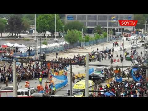 Confuso incidente en Plaza de Maipú termina con carabinero atropellado y varios peatones…