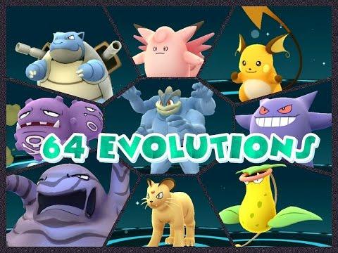 Pokémon GO 64 EVOLUTIONS 62,000XP Machamp Muk Weezing Clefable & more