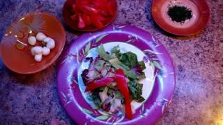 "Легкий салат ""Италия"" ( моцарелла, перец, помидор )"