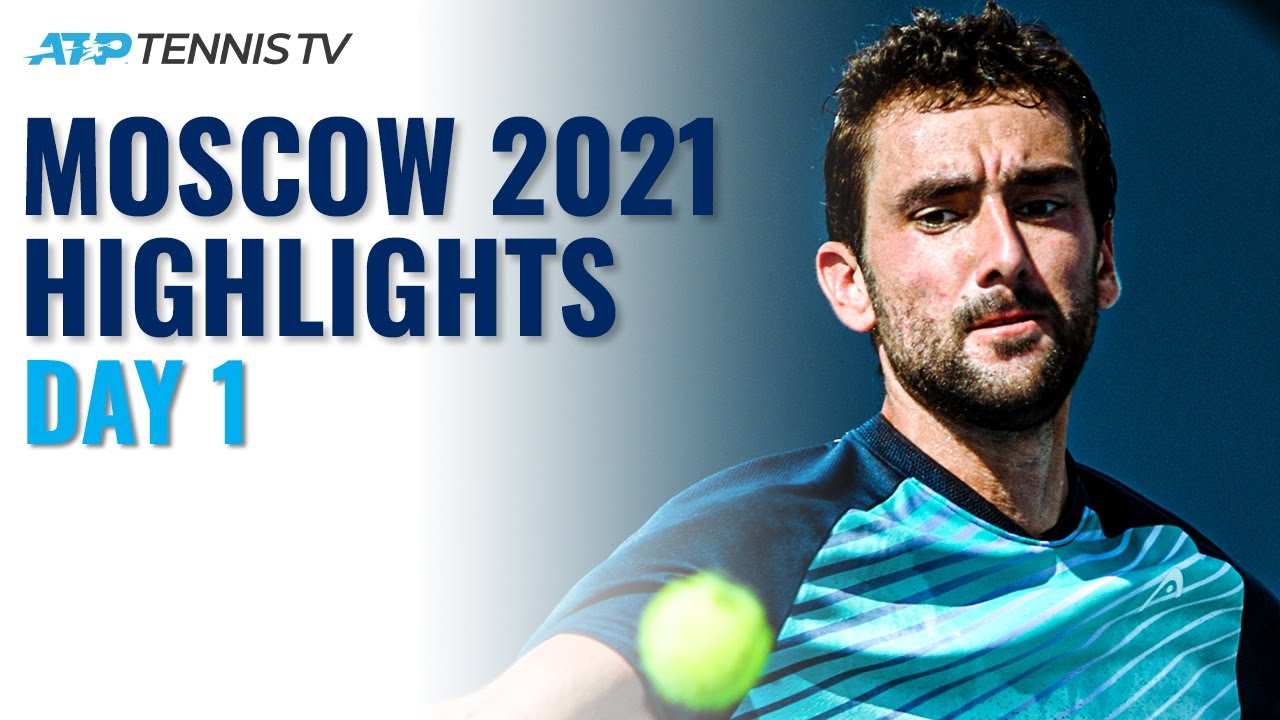 Cilic Faces Dzumhur; Millman Duels With Bonzi | Moscow 2021 Highlights Day 1
