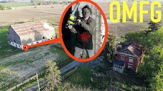 you won't believe what my drone caught on camera at the Texas Chainsaw Massacre House / Leatherface!