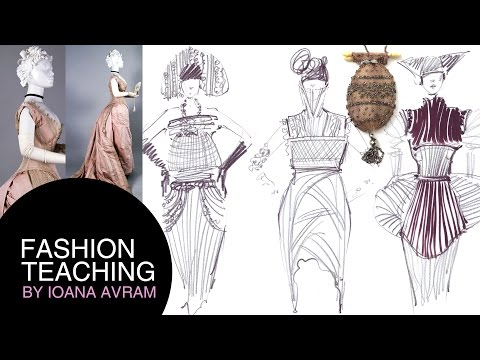 Fashion collection inspired by the Victorian costume