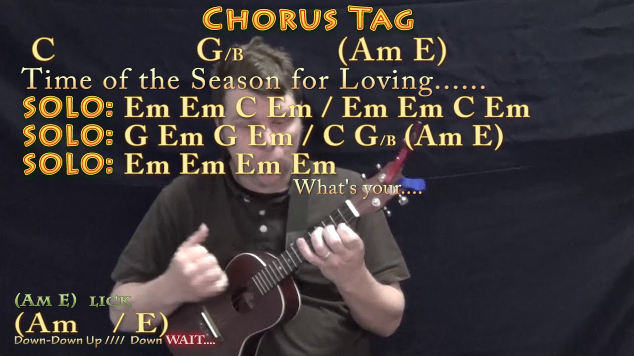 Time Of The Season The Zombies Ukulele Cover Lesson In Em With Chordslyrics