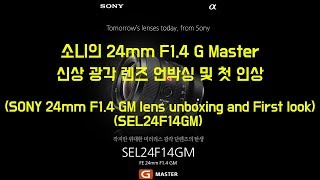 SONY 24mm F1.4 GM / 소니 신상 광각렌즈…