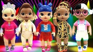 Play Doh  LOL Surprise Eye Spy Series Fierce Baby Next Door Kawaii Queen Baby Alive Dolls