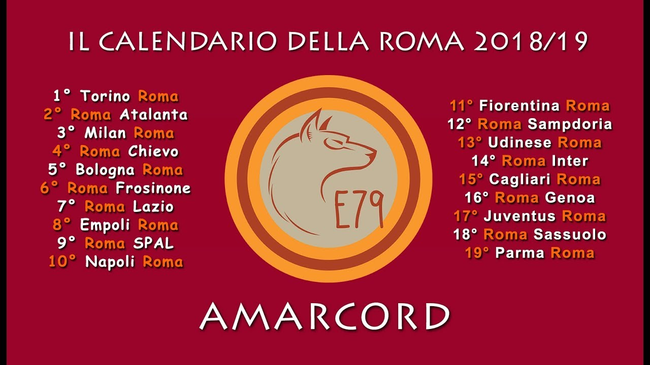 Asroma Calendario.As Roma 2018 19 Il Calendario Amarcord
