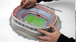 """3D пазлы стадионов. Как собрать """"Камп Ноу"""""""