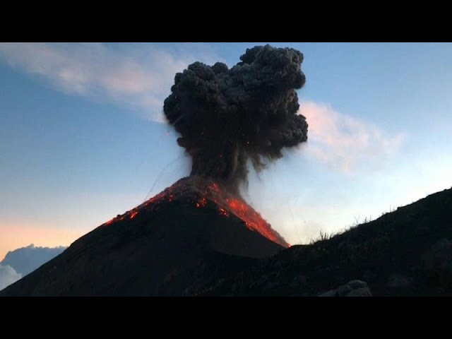 Hikers awed by eruption of Guatemala's Fuego Volcano