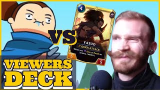 YASUO MIRRORS  |  Climbing to Masters with Viewer Decks only  |  Legends Of Runeterra Gameplay
