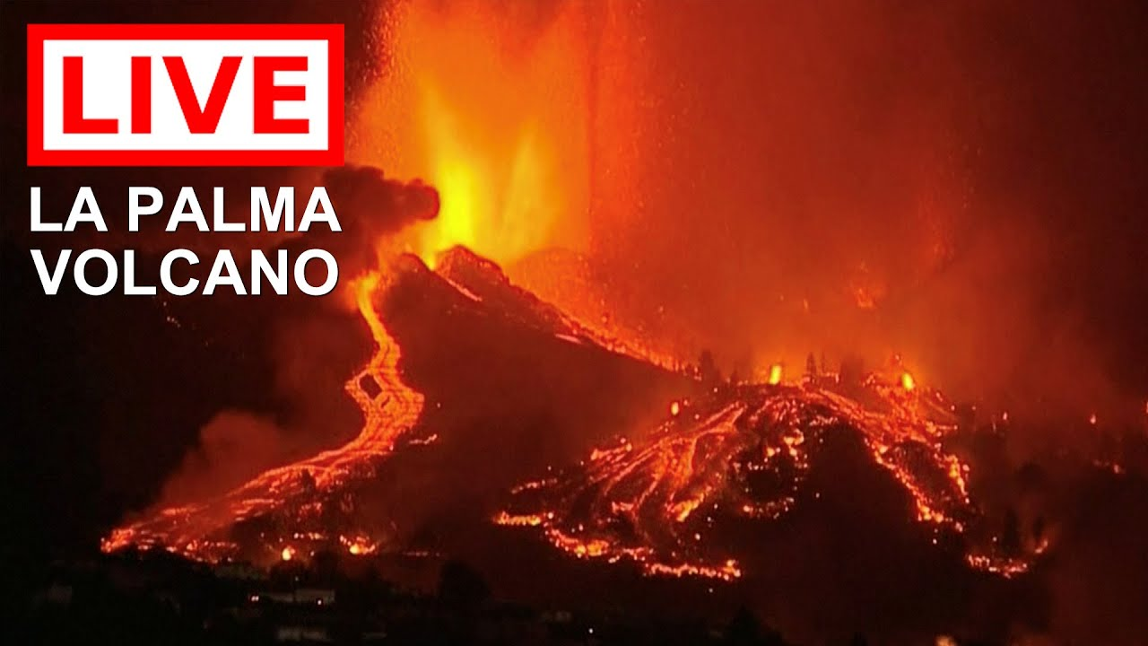 Download 🌎 LIVE: La Palma Volcano Eruption on the Canary Islands (Feed 2)