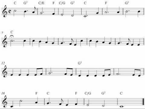 Free Christmas violin sheet music, Joy To The World