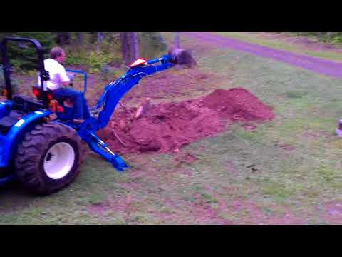 LS G3033H tractor with an LB1100 Backhoe #1