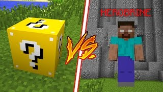 HEROBRINE GIGANTE vs LUCKY BLOCK !! - MINECRAFT