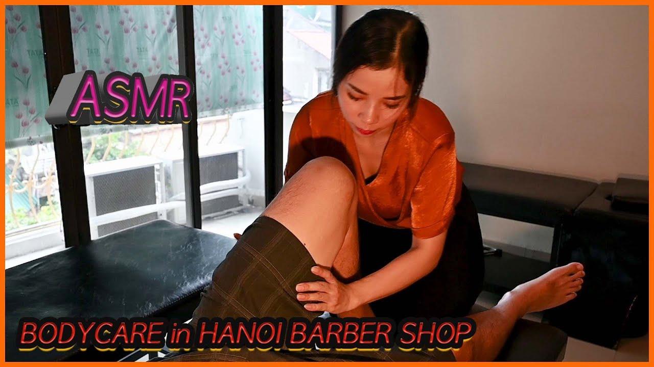Vietnam barber shop tour. Awesome body care service. 하노이 서울이발관 Part 4