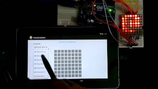Android + Arduino Uno:  display bits and ASCII char  on LED Matrix