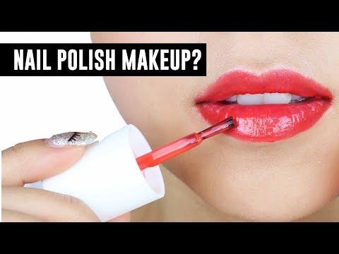 Nail Polish Makeup! - TINA TRIES IT