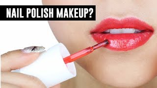 Nail Polish Makeup! - TINA TRIES IT