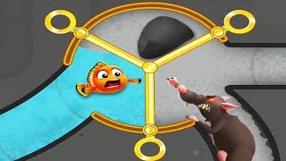 Save The Fish! - Pขll The Pins Puzzle Game Fishdom Gameplay Walkthrough
