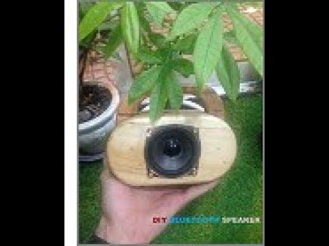 Diy Mini Bluetooth Speaker with pine wood pallet // Ver.1